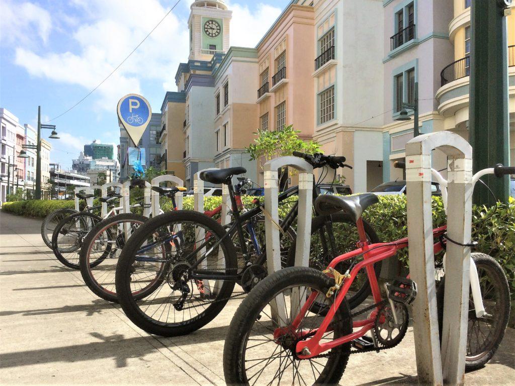 Bike racks at the Megaworld Iloilo